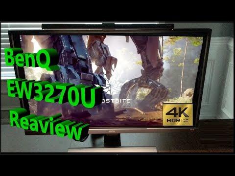 "BenQ EW3270U 32"" 4K HDR Monitor & BenQ e-Reading LED Task Lamp Review"