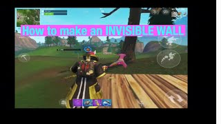 How to make an Invisible Wall on FORTNITE