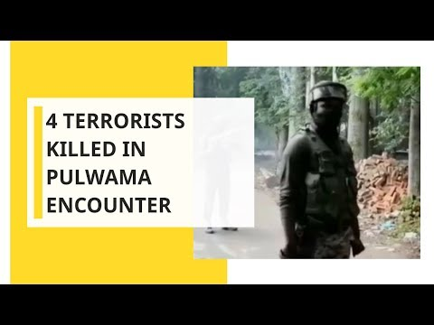 4 Terrorists killed in Pulwama encounter