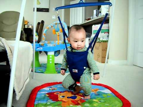 388bdc7b3 5 month old baby playing jolly jumper - YouTube