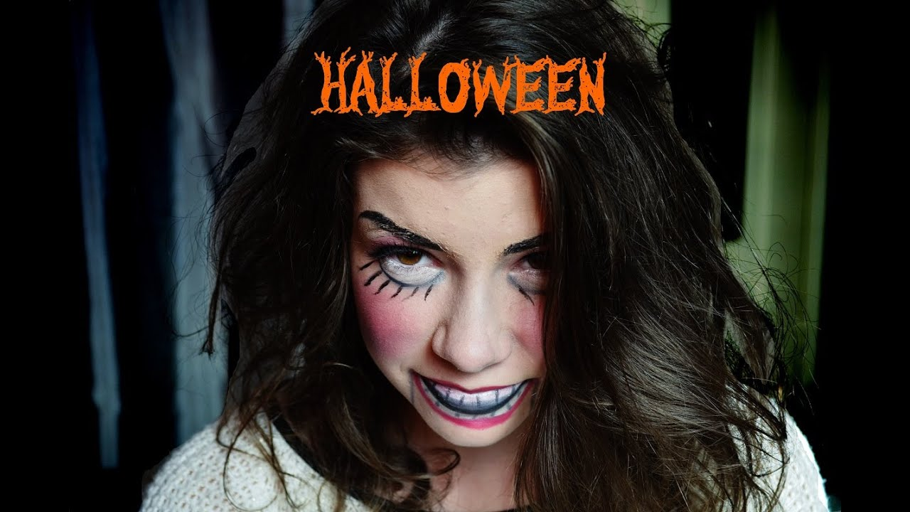 Maquillage halloween pour les nuls poup e d moniaque youtube - Maquillage poupe demoniaque ...