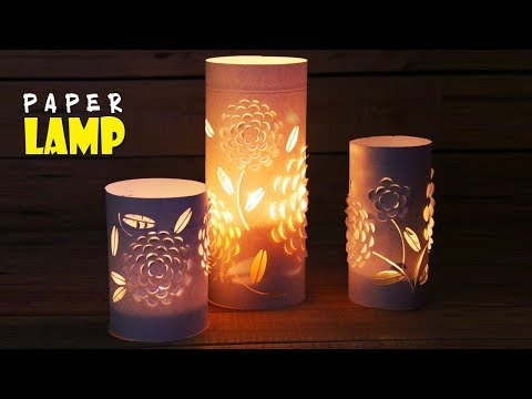 Beautiful Decorative Lamps with Paper | DIY NIght Lamps Lanterns for Home Decors