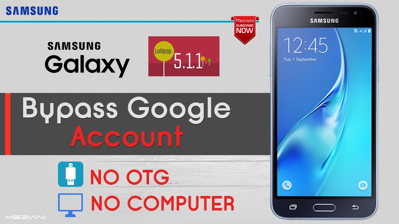 Bypass Google Account Samsung Android 5 1 1 Without COMPUTER or OTG