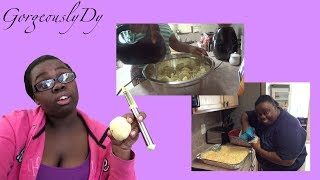 MAKING CHICKEN WINGS &amp MAC AND CHEESE