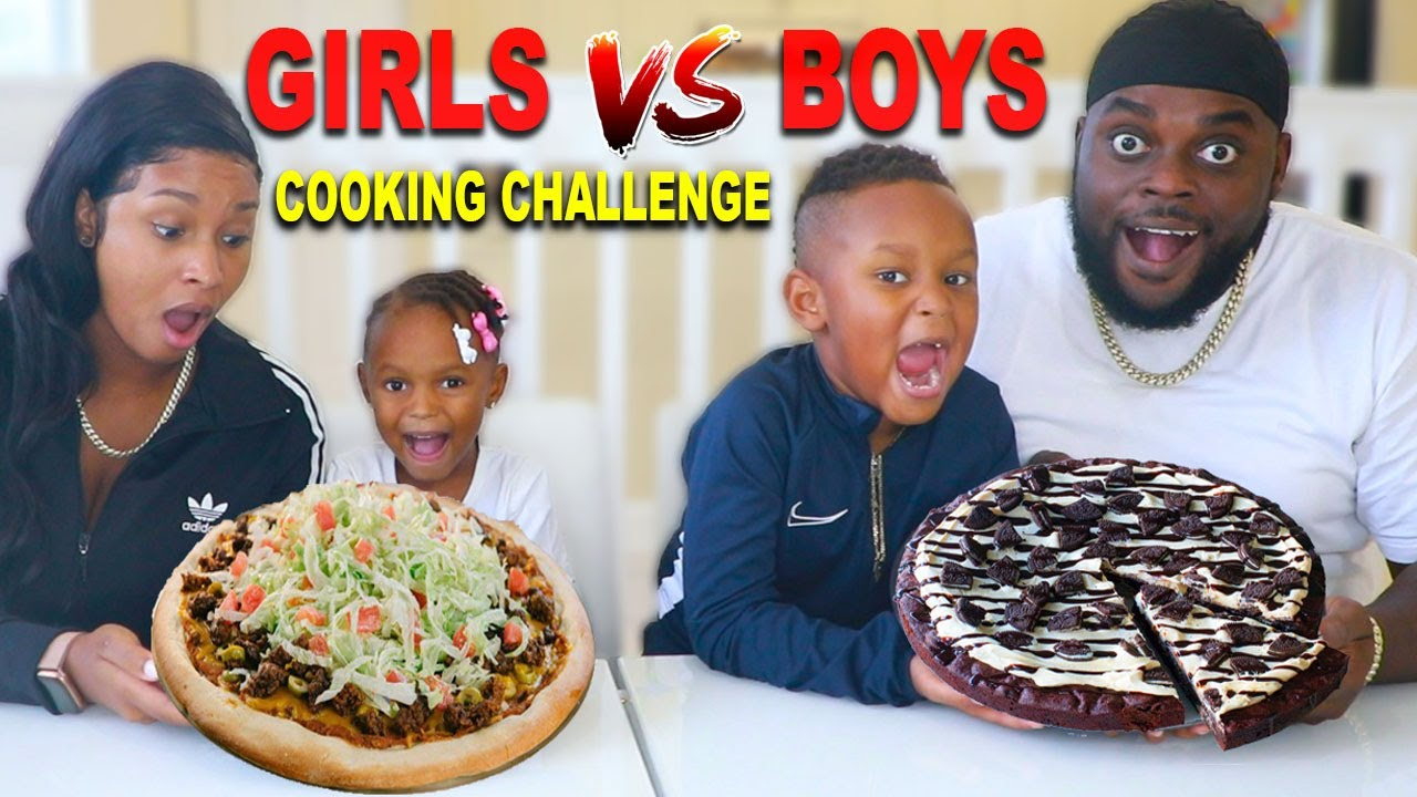 SIS VS BRO PIZZA COOKING CHALLENGE! | The Beast Family