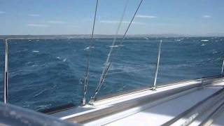Cruising Beneteau Oceanis 37 with strong wind.wmv