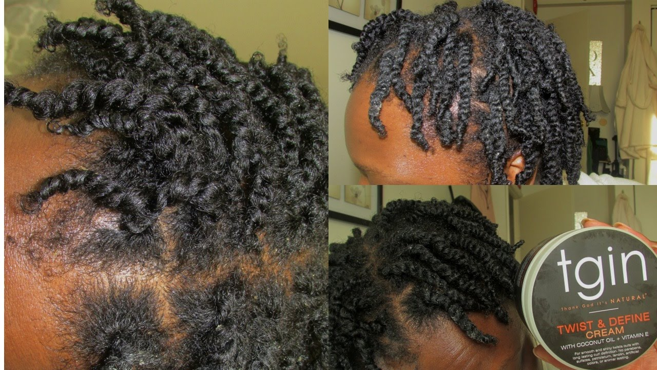 Mini Twists On Short Natural Hair Using Tgin Twist And