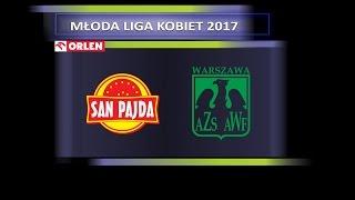 MŁODA LIGA KOBIET 2017: FINAŁ - mecz o 3 miejsce San Pajda Jarosław - AZS AWF Warszawa