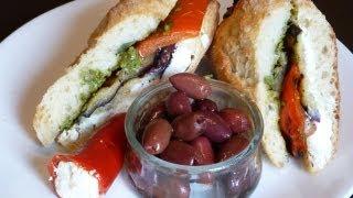Sandwich Recipes - Mediterranean Grilled Sandwich Recipe