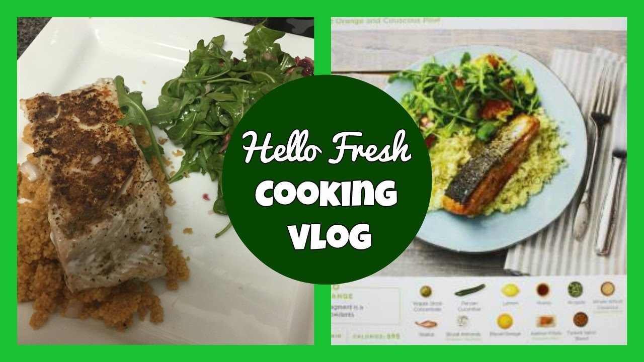 Hello Fresh Cooking Vlog: Turkish-Spiced Salmon with Blood ...