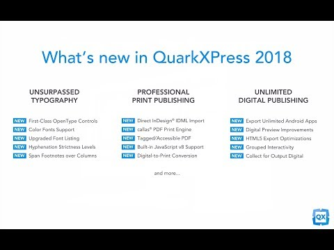 What's new in QuarkXPress 2018 – 5 min overview