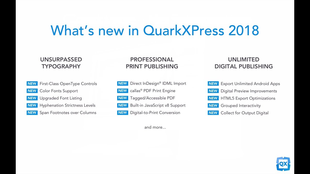 QuarkXPress 2018 | The fully-integrated graphic design and layout