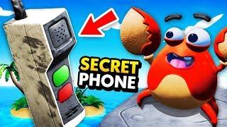 Creating SECRET EMERGENCY PHONE On REMOTE ISLAND (Island Time VR Funny Gameplay)