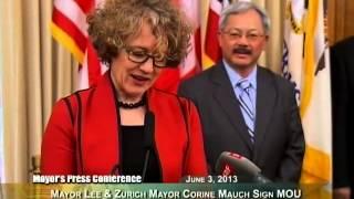 Mayor Lee & Zurich Mayor Corine Mauch Renew Sister City Agreement