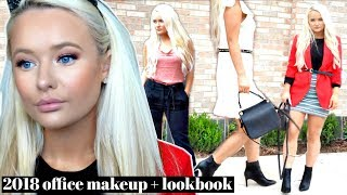 2018 OFFICE LOOKBOOK | 4 OUTFITS + MAKEUP