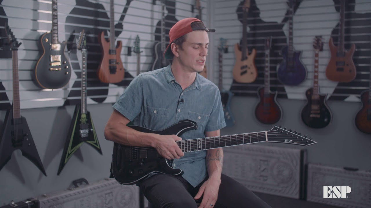 Download ESP Guitars: Bobby Lynge (Fit for a King) on the E-II Horizon NT-7 EverTune (日本語字幕あり)