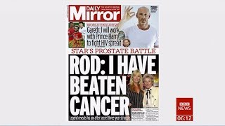 Rod Stewart clear of cancer after 3 years (UK) - BBC News - 16th September 2019