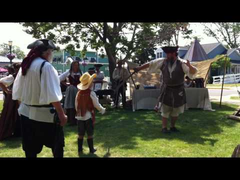Sword Play at Pyrate Fest - Put-in-Bay - 2012
