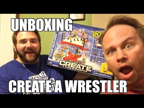 CREATE A WWE SUPERSTAR FULL SET Wrestling Figures UNBOXING!!!