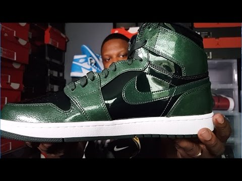 59023624142d JORDAN 1 HIGH  GROVE GREEN  REVIEW AND ON FEET!!! - YouTube
