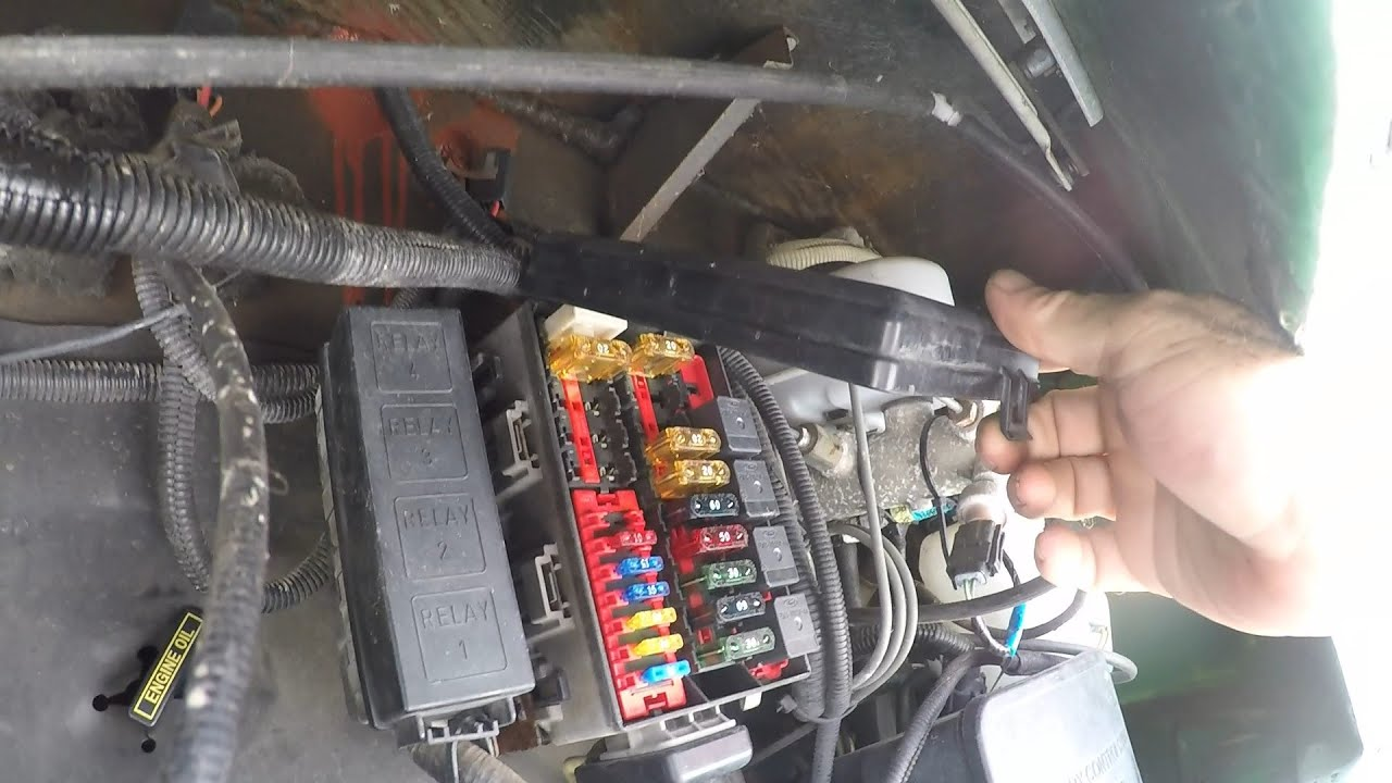 chassis fuse box locations youtube