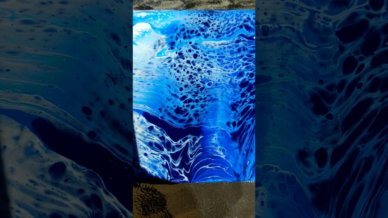 Acrylic pour on tile