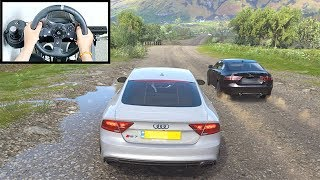 Forza Horizon 4 Audi RS7 Sportback (Logitech G920 Steering Wheel + Paddle Shifter) Gameplay