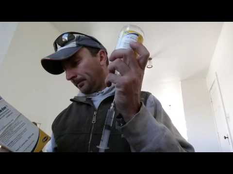Treating a sick calf via dart gun
