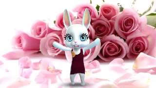 Зайка ZOOBE «Дорогой моей подружке в день рождения»