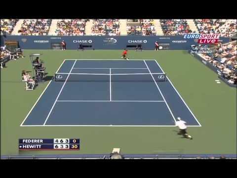 Roger Federer VS Lleyton Hewitt -- US Open 2009 [HD] Highlights