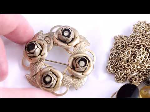 Vintage Costume Jewelry Haul! Thrift Hunter Garage Sale & Estate Sale Finds #140