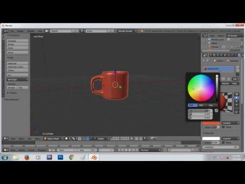 Cara Membuat Objek Cangkir 3 Dimensi di Blender