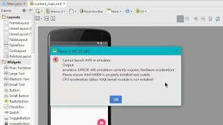 Android studio cannot launch AVD in emulator issue , enabling VT-x