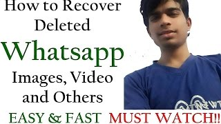 How to Get/Recover deleted messages on whatsapp - 100% Working EASY