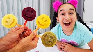 Fruity emoji made Ice cream - Emoji dondurma yaptık, Fun kid video