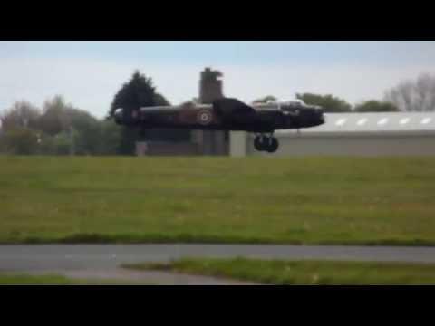 Dambuster Lancaster landing at Biggin Hill - Radio 2 May 2013