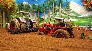 RC TRACTOR destroyed a pipeline & needs help - farm toy action