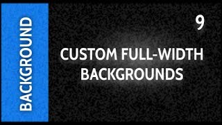 Web Design Tutorials for Xara Web Designer 9 Premium Lesson 131: Custom Full-width Backgrounds