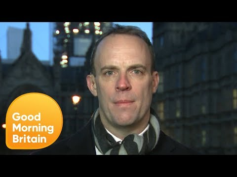 Dominic Raab Responds to House of Commons Vote Against a No-Deal Brexit   Good Morning Britain
