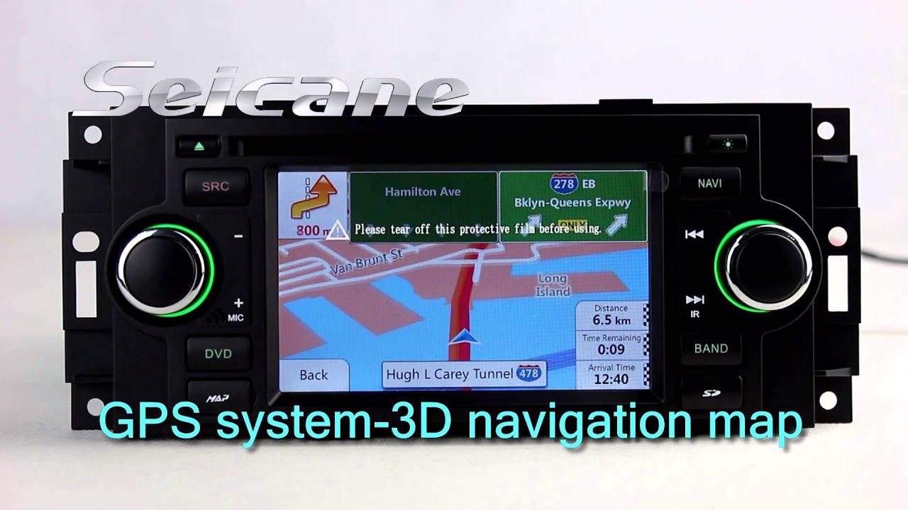 2005 2006 2007 chrysler 300c in dash radio navigation system with rh youtube com Voice Activated Navigation System Chrysler Chrysler Dealer Connect