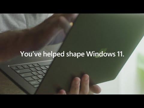 Thank you Windows Insiders for helping us shape Windows 11