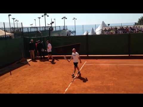 Andy Murray Marin Cilic 2017 Monte Carlo Rolex Masters training