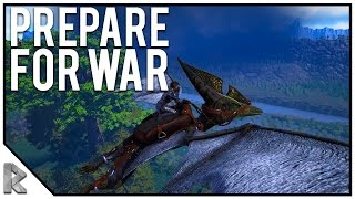 "Preparing for War! - Ark Survival Evolved ""The Volcano"" PVP #4"