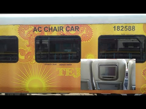 Chennai-Madurai TEJAS EXPRESS!   LCD SCREENS Personal INFOTAINMENT SYSTEM EXPLAINED! Indian Railways