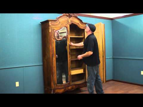 Antique Armoire with 4 Mirrors on Doors