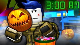 The Last Guest Goes Trick or Treating in Roblox Jailbreak at 3AM!!! (Un juego de rol Roblox Jailbreak)