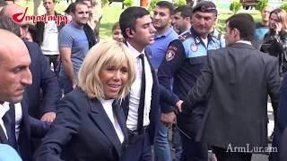 Աննա Հակոբյանը, Բրիջիթ Մակրոնն ու  Ֆրանկոֆոնիայի մյուս կին հյուրերը շրջում են Երևանում
