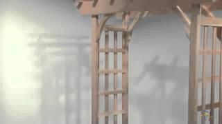 Arboria Rosedale 7 Ft  Cedar Pergola Arbor - Product Review Video