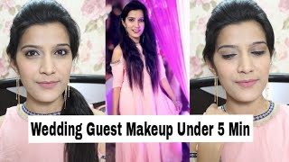 How to : Wedding Guest Makeup Under 5 Min   Indian Makeup Tutorial   Super Style Tips