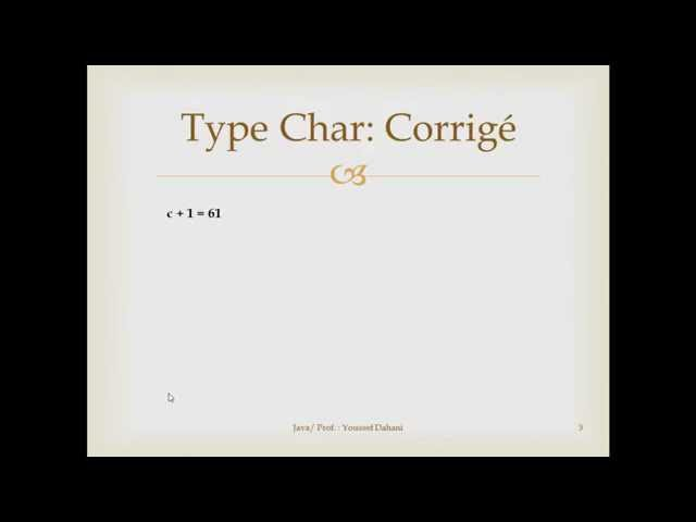 Exercice Java N° 2 : Type Char